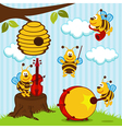 orchestra musical bees vector image
