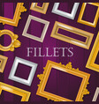 picture framing banner flyer poster vector image vector image