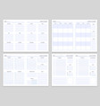 planner note pages templates yearly monthly and vector image vector image