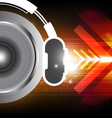 power of sound from headphone vector image vector image