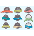 Premium Quality labels in retro colors vector image vector image