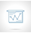 Project presentation blue flat line icon vector image