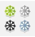 realistic design element snowflake vector image vector image
