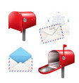 realistic postal elements set vector image vector image