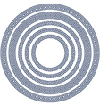 round frame with greek pattern vector image vector image