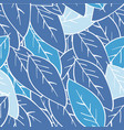 seamless abstract winter leaf background blue vector image vector image
