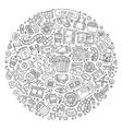 Set of Cinema cartoon doodle objects vector image vector image