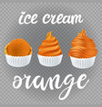 set of ice cream scoops poster design with creme vector image