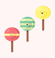 set of ice-creams vector image