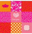 Set of lovely backgrounds vector image
