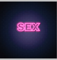 sex neon sign vintage signage vector image vector image