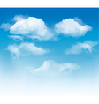 Sky background with clouds vector image vector image