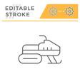 snowmobile line icon vector image vector image