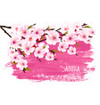 spring nature background with pink sakura branch vector image vector image
