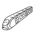 subway icon doodle hand drawn or outline icon vector image