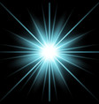 sunlight with lens flare effect aqua color vector image vector image