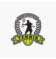 tennis club badge logo-4 vector image vector image