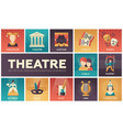 theatre - set of flat design infographics elements vector image
