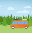 Travel Car On Hill vector image
