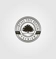 tree logo vintage in emblem design vector image vector image