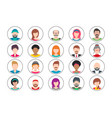 twenty colorful people avatar icons set vector image