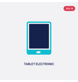 two color tablet electronic device icon from vector image vector image