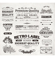 Vintage Label Set vector image vector image