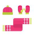 winter warm accessory vector image vector image