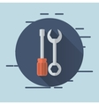 wrench and screwdriver icons image vector image