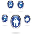 comu blue icons vector image
