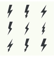Abstract background with electric lightning vector image