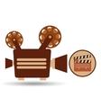 camera movie vintage clapper icon design vector image