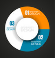 wheel chart with place for text2 vector image