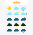 15 weather forecast vector image