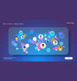 5g online wireless system connection global chat vector image