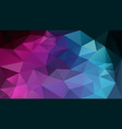 abstract irregular polygonal background pink blue vector image vector image