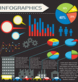 An infographics with humans and vehicles vector image vector image