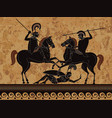 ancient greece warriorherospartanmyth vector image
