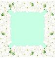 arabian jasmine border on green mint background vector image vector image