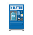 automatic vending machine with drinking water vector image vector image