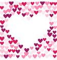 background with hearts heart vector image