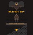 batman theme collection vector image vector image