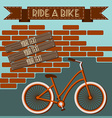 Bicycle silhouette Graffiti on Brick Wall vector image