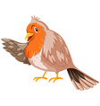 Bird with brown feather vector image vector image