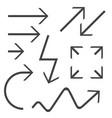 black arrows set black icon vector image vector image