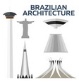 brazilian architecture modern flat design vector image vector image