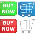 button grocery cart vector image vector image