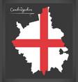 cambridgeshire map england uk with english vector image vector image