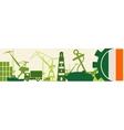 Cargo port Ireland flag in gear vector image vector image