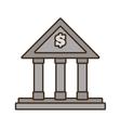 cartoon building bank money finance vector image